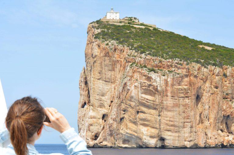 Vista su Capo Caccia dal battello